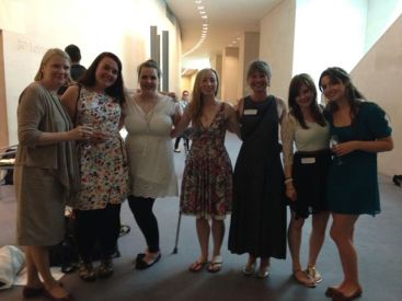 Young Explainers at the British Museum Marsh Trust Award, left to right: Susanna Avery-Quash, Vicky Smith, Laura Hughes, Sarah Hodge, Sara Norrish, Sarah Stagg, Francesca Didymus.