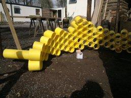 Work in progress: Gas pipe honey bee sculpture