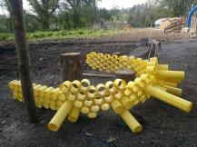 Honey combe sculptural arch at Dartington Landworks  Sarah Jane Hodge
