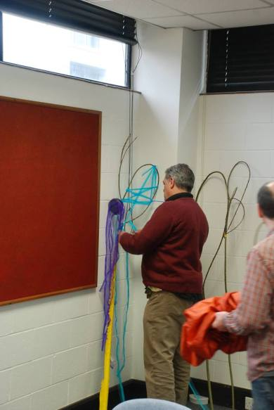 Phil Magee making something with colour! Photo credit: Vital Sparks