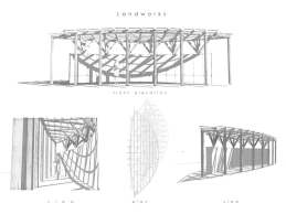 Frame drawing of LandWorks project by Jakob Benjamin