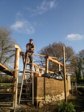 Timber frame land art sculpture
