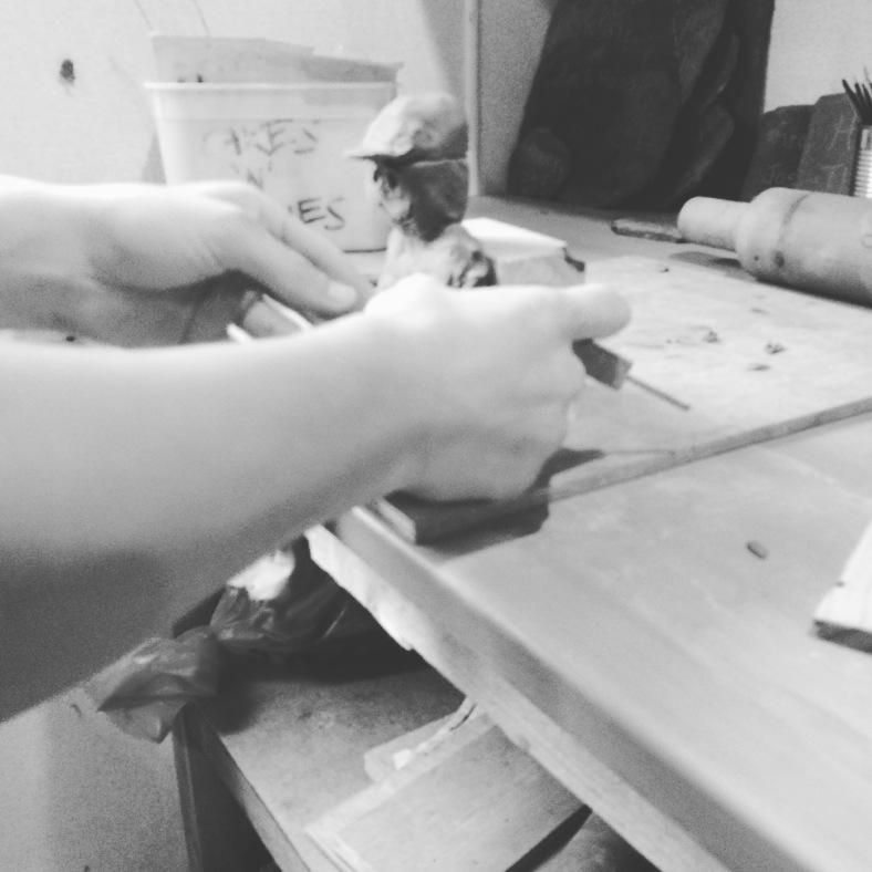 Rodney clay sculpting