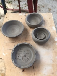 clay pots 5 small
