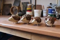 Four hedgehogs - small